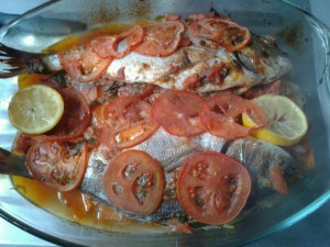 poisson au four a la chermoula dans POISSON 527255_583050828380839_1666535209_n-300x225